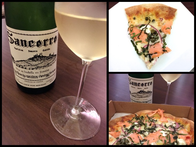 pizza nova sancerre and salmon